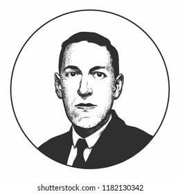 Howard Phillips Lovecraft, an American writer Moscow, Russia, 09/16/2018