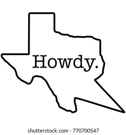 Howdy State of Texas Conversation Speech Bubble