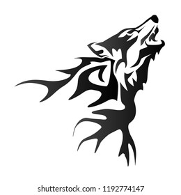howling wolf tattoo illustrations