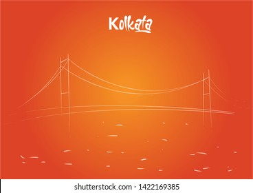Howrah Bridge is a bridge with a suspended span over the Hooghly River in West Bengal