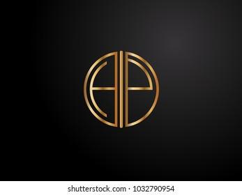 HP circle shape gold color design