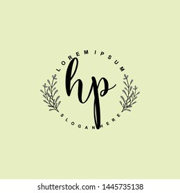 HP Initial beauty floral logo template