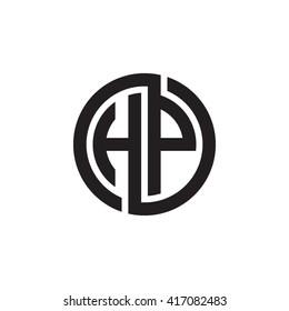 HP initial letters looping linked circle monogram logo
