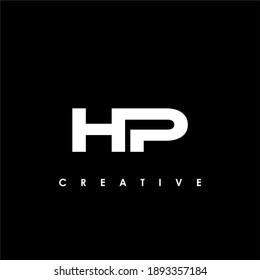 HP Letter Initial Logo Design Template Vector Illustration