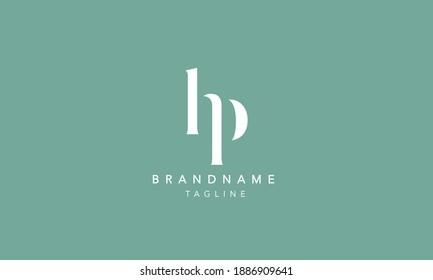 HP Lowercase Letter Initial Icon Logo Design Vector Illustration