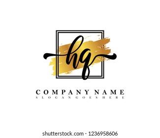 HQ Initial handwriting logo concept