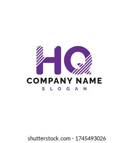 HQ Letter Logo Design. HQ letter logo Vector Illustration - Vector