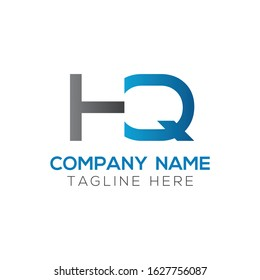 HQ Logo Design Vector Template. Initial Linked Letter HQ Vector Illustration
