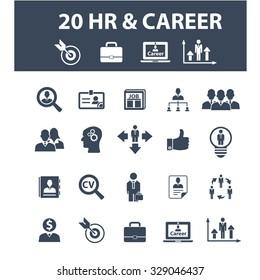 hr, career, job, cv, employment icons