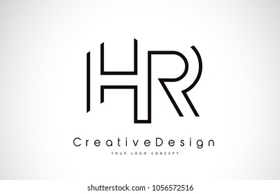 Letter hr images stock photos vectors shutterstock hr h r letter logo design in black colors creative modern letters vector icon logo illustration thecheapjerseys Image collections