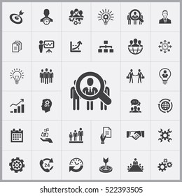 HR icon. business planning icons universal set for web and mobile