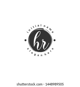 HR Initial beauty monogram logo vector
