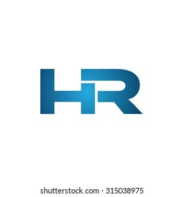 HR initial company linked letter logo