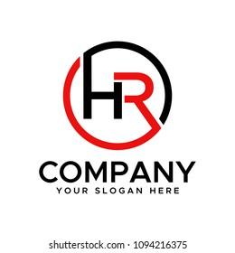 HR initial logo design