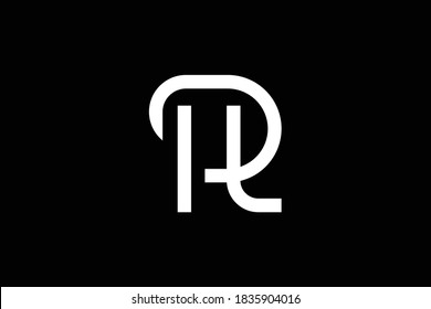 HR letter logo design on luxury background. RH monogram initials letter logo concept. HR icon design. RH elegant and Professional letter icon design on black background. H R HR RH