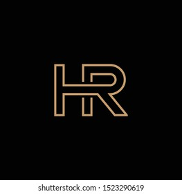 HR letter logo and icon design