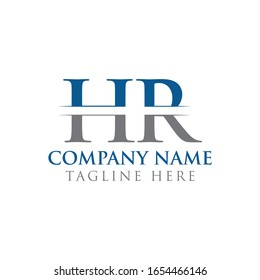 HR letter Type Logo Design vector Template. Abstract Letter HR logo Design