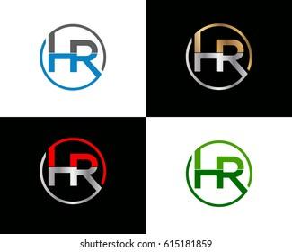 Hr letter vector logo design