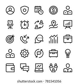 HR Line Vector Icons Set