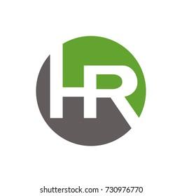 HR logo initial letter design template vector