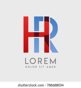 """HR logo letters with """"blue and red"""" gradation"""
