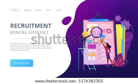 Hr Managers Looking Curriculum Vitae Job Stock Vector Royalty Free