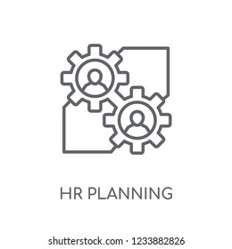 hr planning linear icon. Modern outline hr planning logo concept on white background from General collection. Suitable for use on web apps, mobile apps and print media.