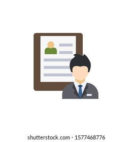 hr policies creative icon. flat multicolored illustration. From Human Resources icons collection. Isolated hr policies sign on white background