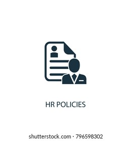 Hr policies icon. Simple element illustration. Hr policies symbol design from HR collection. Can be used in web and mobile.
