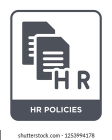 hr policies icon vector on white background, hr policies trendy filled icons from General collection, hr policies simple element illustration