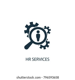 Hr services icon. Simple element illustration. Hr services symbol design from HR collection. Can be used in web and mobile.