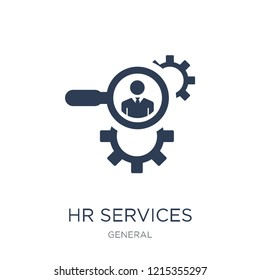 hr services icon. Trendy flat vector hr services icon on white background from general collection, vector illustration can be use for web and mobile, eps10