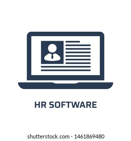 HR software icon. Trendy flat vector hr software icon on white background from general collection, vector illustration can be use for web and mobile, eps10