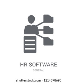 hr software icon. Trendy hr software logo concept on white background from General collection. Suitable for use on web apps, mobile apps and print media.