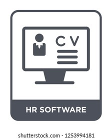 hr software icon vector on white background, hr software trendy filled icons from General collection, hr software simple element illustration