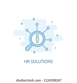 Hr solutions concept trendy icon. Simple line, colored illustration. Hr solutions concept symbol flat design from Human resources set. Can be used for UI/UX