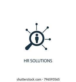 Hr solutions icon. Simple element illustration. Hr solutions symbol design from HR collection. Can be used in web and mobile.