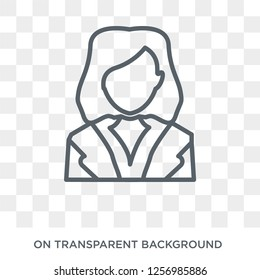HR Specialist icon. Trendy flat vector HR Specialist icon on transparent background from Professions collection. High quality filled HR Specialist symbol use for web and mobile