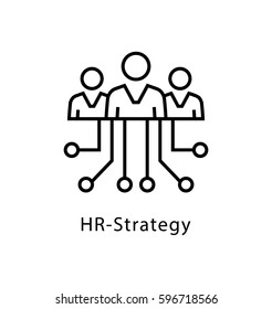HR Strategy Vector Line Icon
