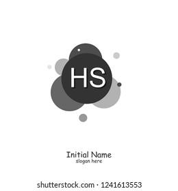 HS Initial logo template vector