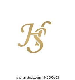 HS initial monogram logo