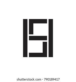 HS letter logo