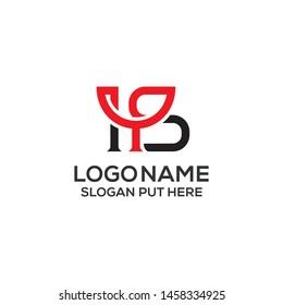 HS Letter logo design template