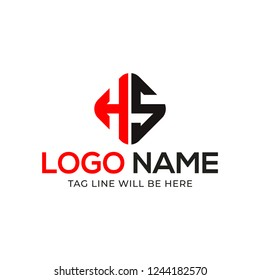 HS Letter Logo Design Vector Illustration