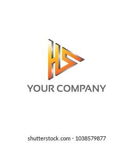 HS - Logo Template 100 percent vector, Fully editable 100 percent Resizable vector EPS documents