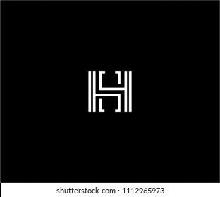 HS monogram logo design