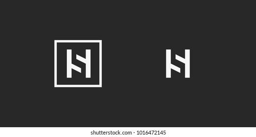 HS, S logo, monogram, vector
