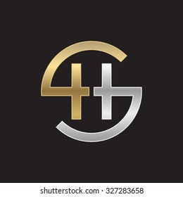 HS or SH letters, golden silver circle S shape