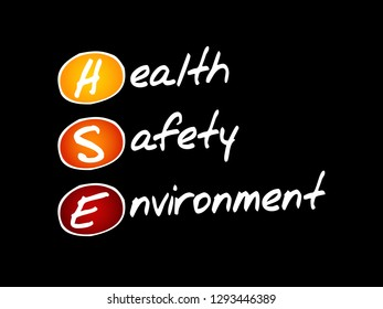 HSE - Health Safety Environment, acronym concept