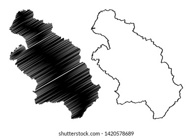 Hsinchu County (Administrative divisions of Taiwan, Republic of China, ROC, Counties) map vector illustration, scribble sketch Hsinchu map